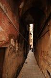 热那亚街道隧道 免版税图库摄影