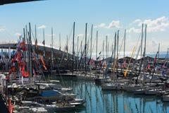 热那亚,国际小船展示的第57编辑 免版税库存照片