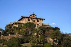 热那亚,意大利历史别墅  库存照片