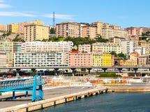 热那亚,意大利地中海城市scape  免版税图库摄影
