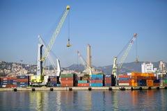 热那亚,意大利港 免版税图库摄影
