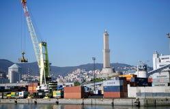 热那亚,意大利港 免版税库存图片