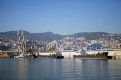 热那亚,意大利港 库存照片