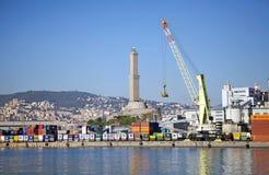热那亚,意大利港 免版税库存照片