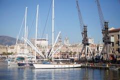 热那亚,意大利老港口  免版税库存图片