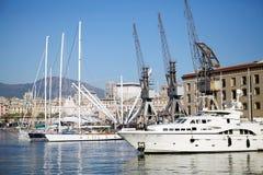 热那亚,意大利老港口  库存照片