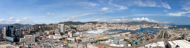 热那亚,意大利- 2016年4月10日:热那亚高的看法  免版税图库摄影