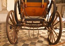 热那亚,意大利-王宫,古色古香的教练细节 库存照片