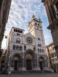 热那亚`圣洛伦佐`大教堂  免版税库存图片