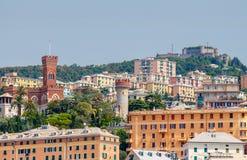 热那亚 老处所 库存图片