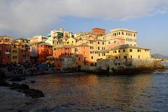 热那亚- Boccadasse 免版税库存图片