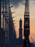 热那亚` s著名地标灯塔 免版税库存图片