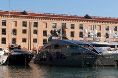热那亚megayachts端口 免版税库存照片