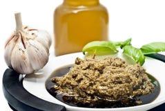热那亚Pesto的alla,蓬蒿调味汁 库存图片