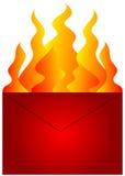 热邮件红色 免版税图库摄影