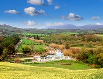 热量农神 田园诗托斯卡纳风景 顶面吸引力在意大利 著名旅行目的地 库存图片