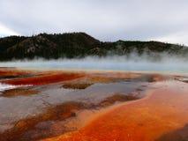 热量特点在黄石国家公园 库存照片