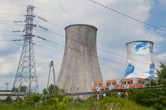 热量电发电站 库存照片
