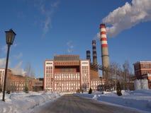 热量的发电站 免版税库存照片