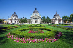 热量浴和温泉,布达佩斯 免版税库存照片