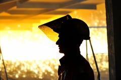 热钢铁工人 库存图片