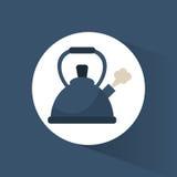 热鸣笛水壶的罐 向量例证