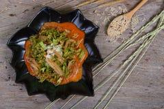 热&气味强烈的沙拉用豌豆 免版税库存照片