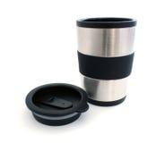 热水瓶杯子和盒盖 库存照片
