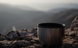 热水瓶杯子 免版税库存照片