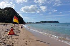 热水Bech -新西兰 库存图片