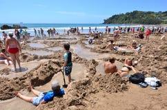 热水Bech -新西兰 库存照片