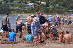 热水Bech -新西兰 图库摄影