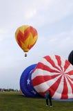 热2个的气球 库存图片