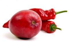 热chily和芒果果子 图库摄影