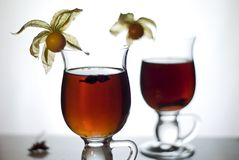 热i加香料茶 免版税图库摄影