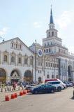 热Kazansky火车站 手表 响铃 建筑师Schusev 1914-1917 莫斯科borokko 库存图片
