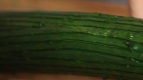 烹调三文鱼鱼用米和黄瓜 股票视频