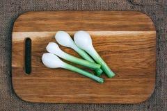 烹调与新鲜蔬菜 库存照片