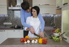 烹调从菜的沙拉 免版税库存照片