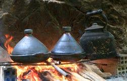 烹调传统摩洛哥盘 免版税库存图片