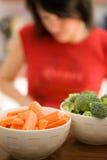 烹调健康的食物 库存图片