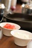 烹调健康的食物 免版税库存图片