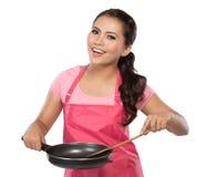 烹调健康的食物 免版税库存照片