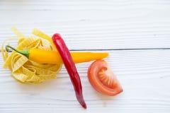 烹调健康食物概念 免版税图库摄影