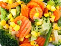 烹调准备好的蔬菜 免版税库存图片