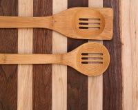 烹调匙子的木头 库存图片