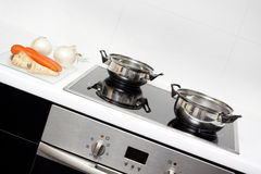 烹调原始的食物 库存照片
