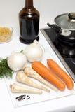 烹调原始的食物 图库摄影