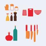 烹调厨房集合工具 免版税图库摄影