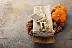 烹调和吃在秋季 图库摄影